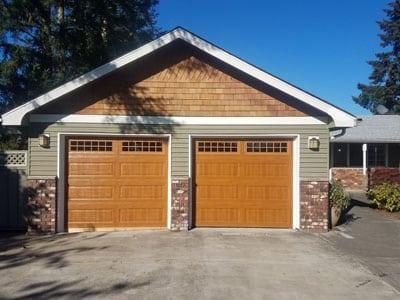 wood garage door in Tukwila